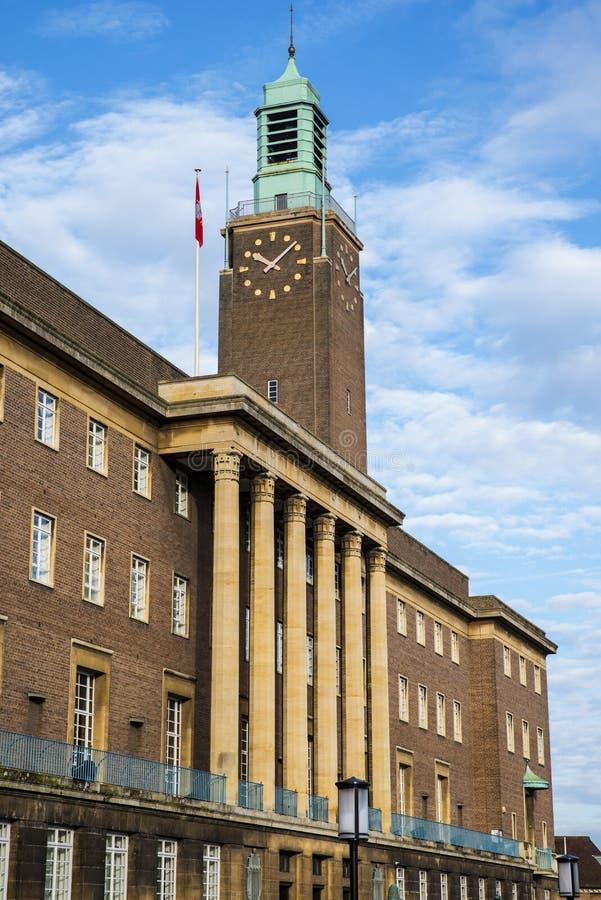 Norwich urząd miasta fotografia stock