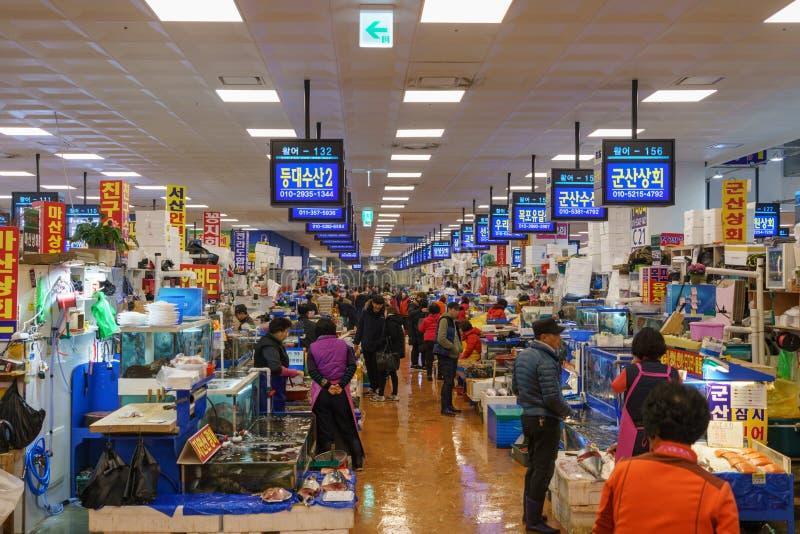 Noryangjin海鲜市场 库存图片