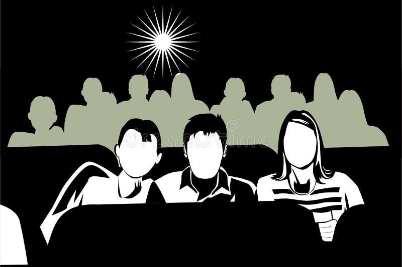 Nos filmes ilustração do vetor