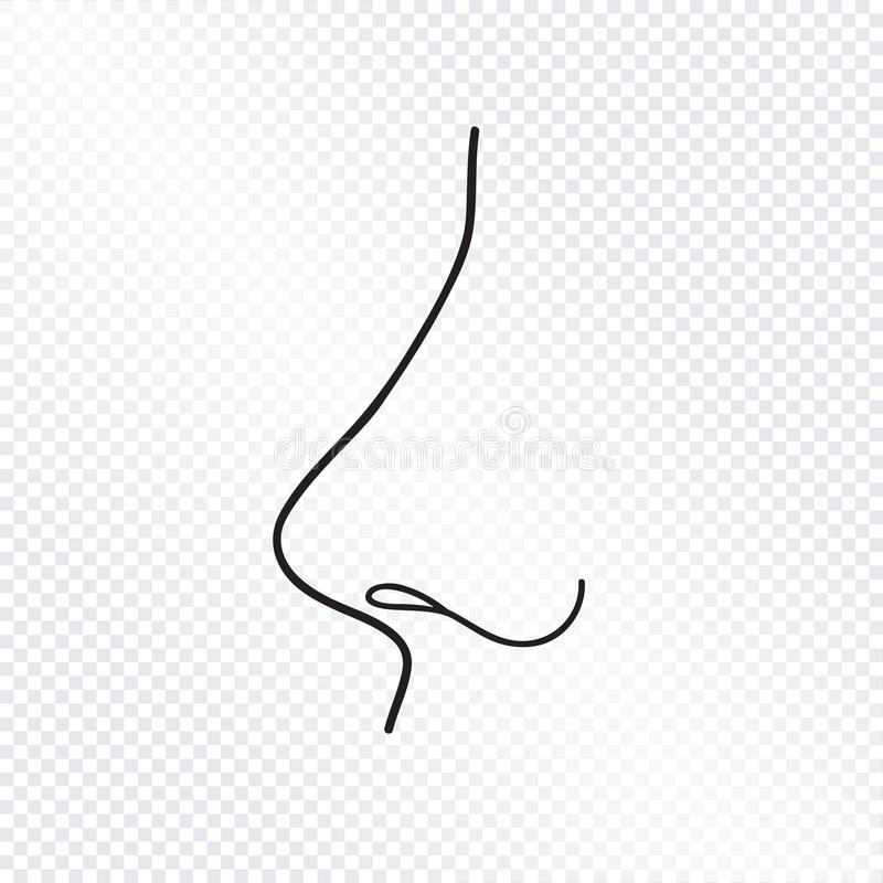 Nos odizolowywający Ludzka nos ikona royalty ilustracja