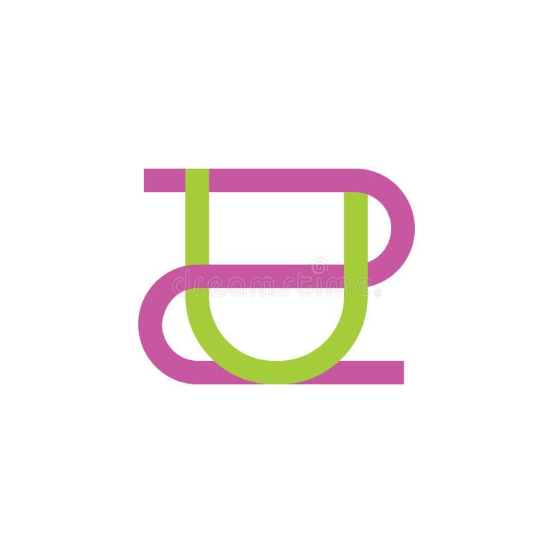 Nos pone letras vector ligado simple del logotipo libre illustration