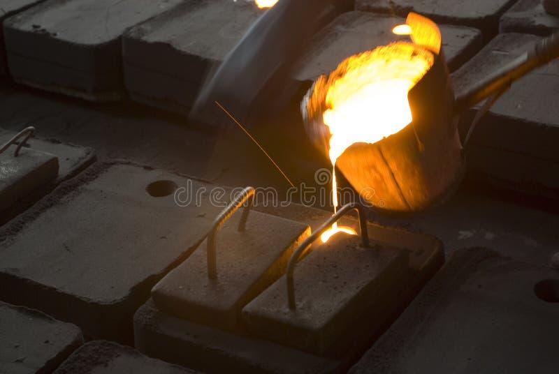Nos trabalhos do ferro imagem de stock