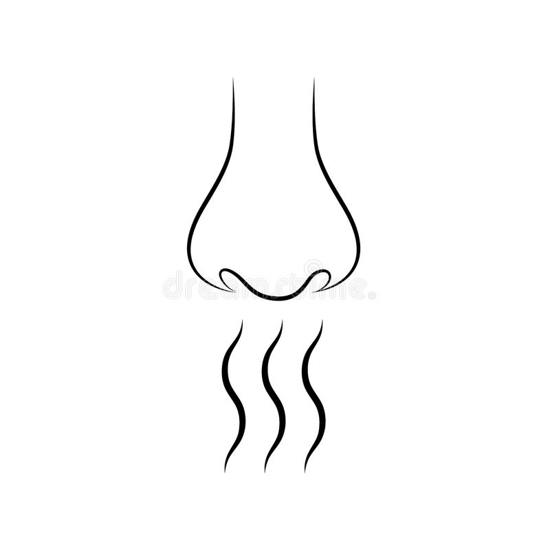 Free Nose And Smell Sense Flat Vector On White Background. Stock Photos - 116489583