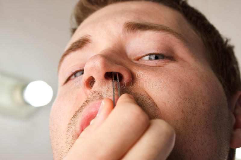 Nose Hair Puck stock image