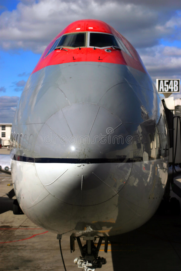 Nose of jet stock image