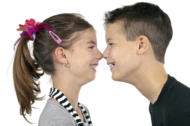 Nose Kisses Stock Images