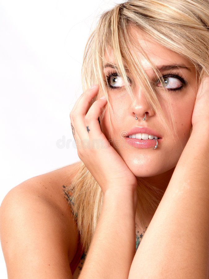 Nose and Lip Rings royalty free stock images