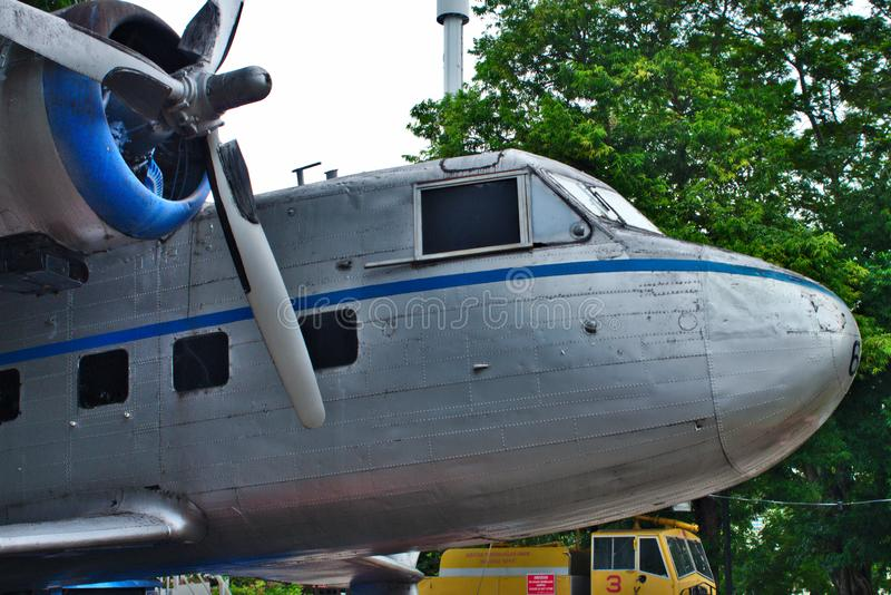 Nose part of Scottish Aviation Twin Pioneer stock photos