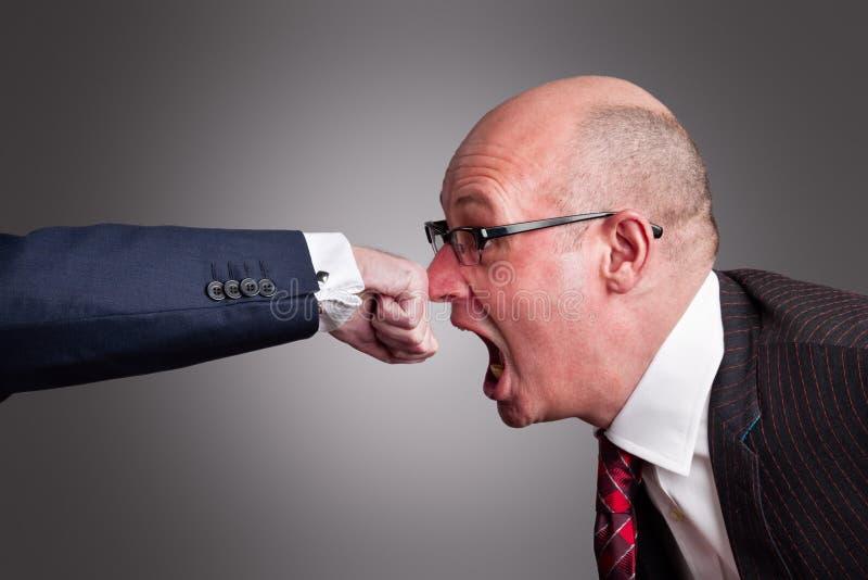 nose punch στοκ φωτογραφίες