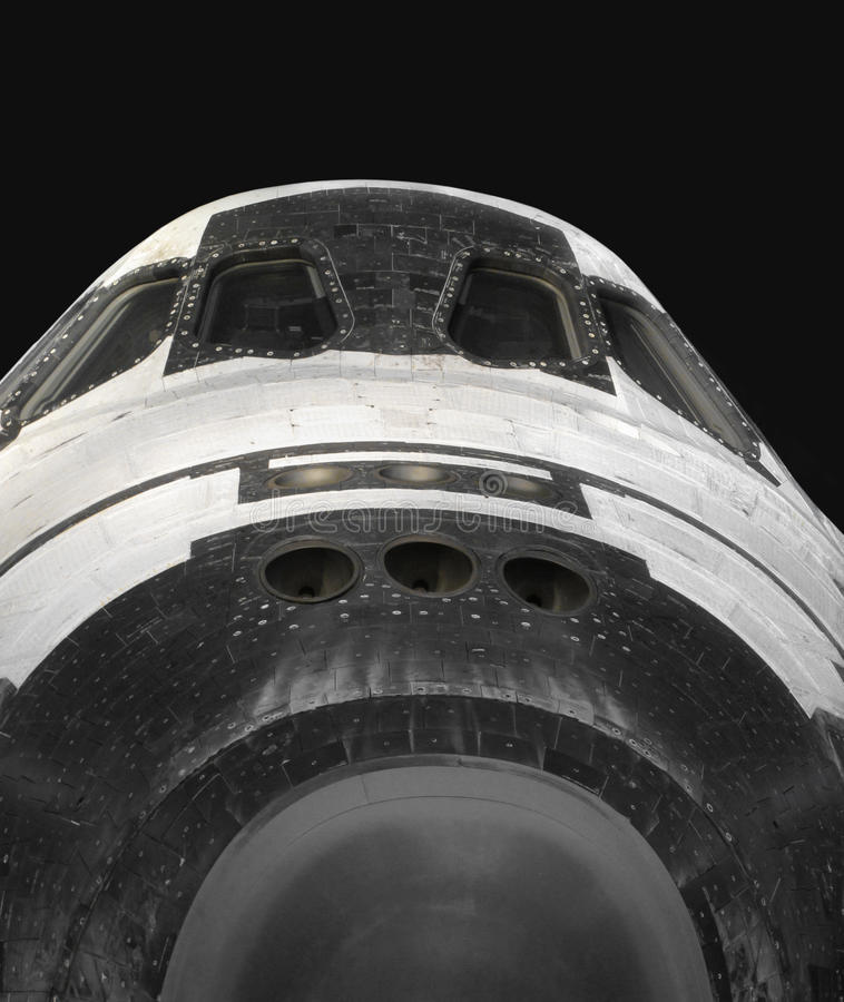 Nose of a space shuttle. royalty free stock photography