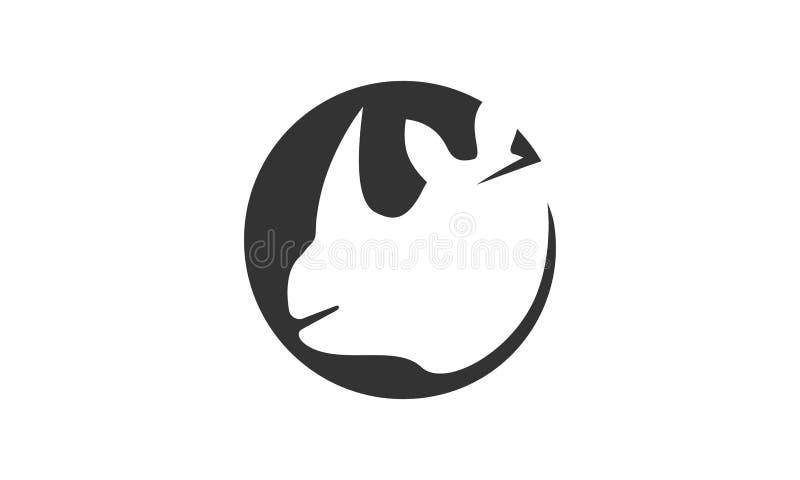 Noshörninglogo royaltyfria bilder
