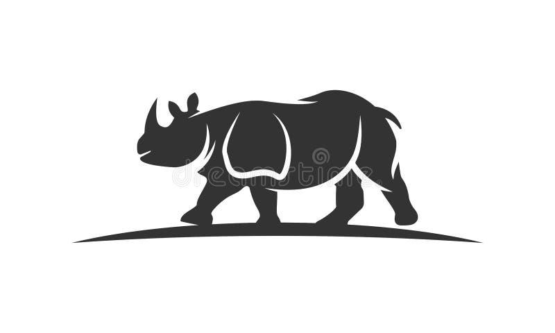 Noshörninglogo royaltyfri foto