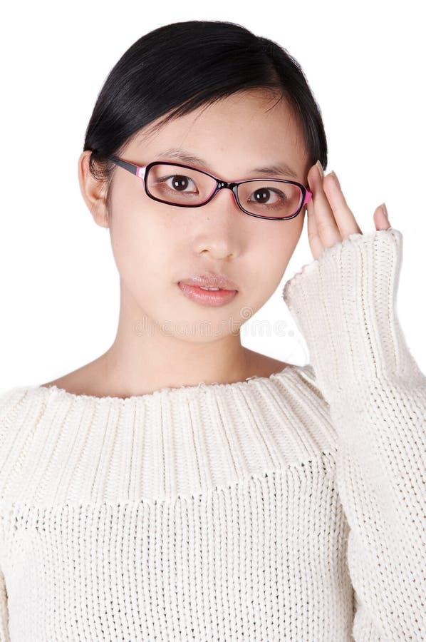 nosić okularów dziewczyn. obrazy stock