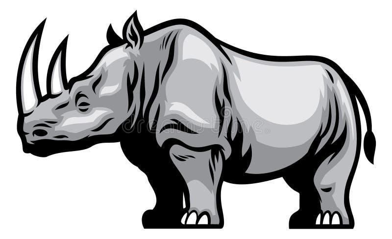 nosorożec afrykański ilustracji