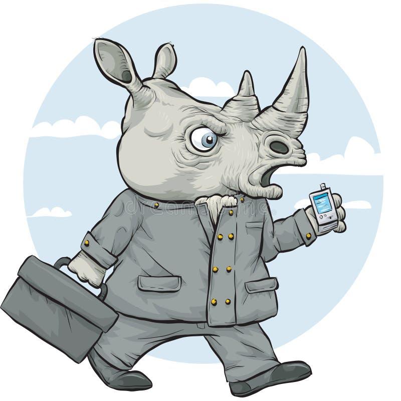 Nosorożec biznesmen royalty ilustracja
