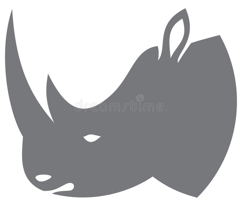 Nosorożec głowa ilustracji