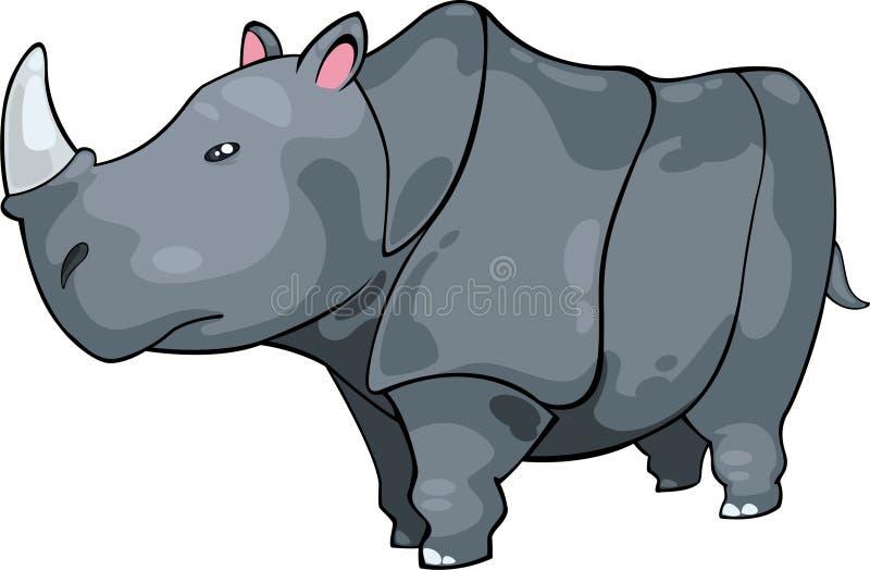 nosorożec ilustracyjny wektor ilustracja wektor