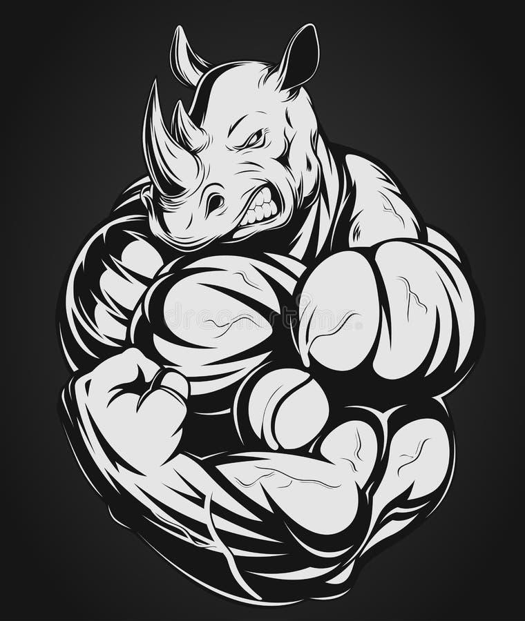 nosorożec silna ilustracji