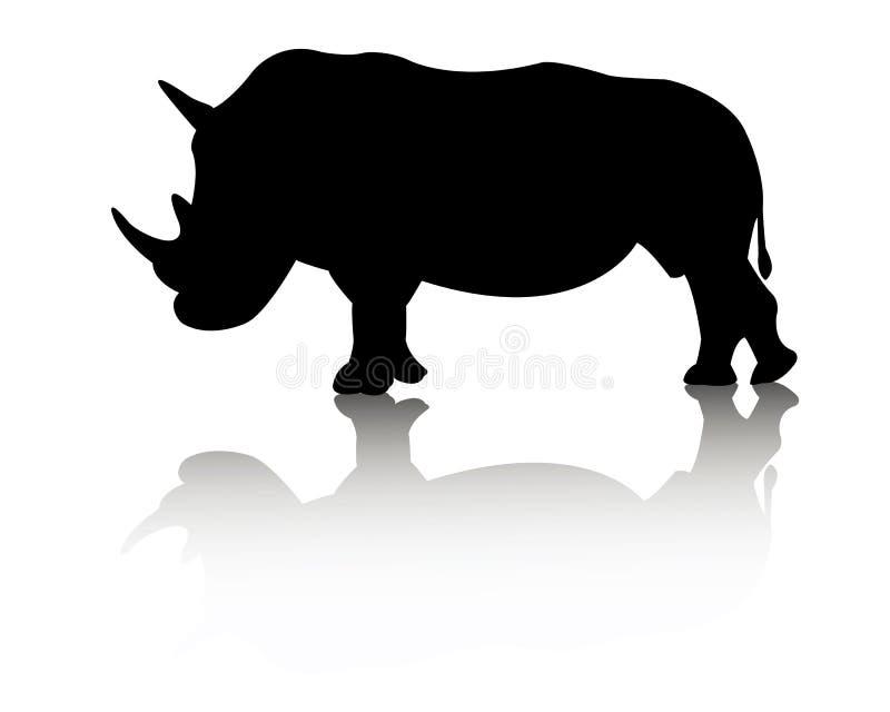 Nosorożec zwierzę ilustracji