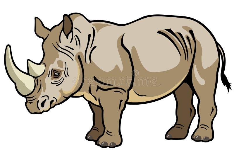 Download Nosorożec ilustracja wektor. Ilustracja złożonej z pojedynczy - 28954056