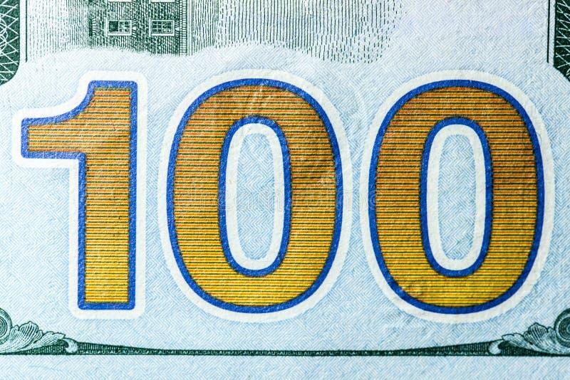 Nosotros divisa nacional cientos dólares cerca para arriba fotografía de archivo libre de regalías