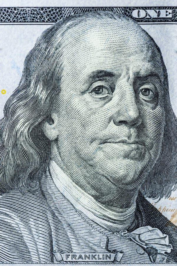 Nosotros divisa nacional cientos dólares cerca para arriba imagen de archivo libre de regalías