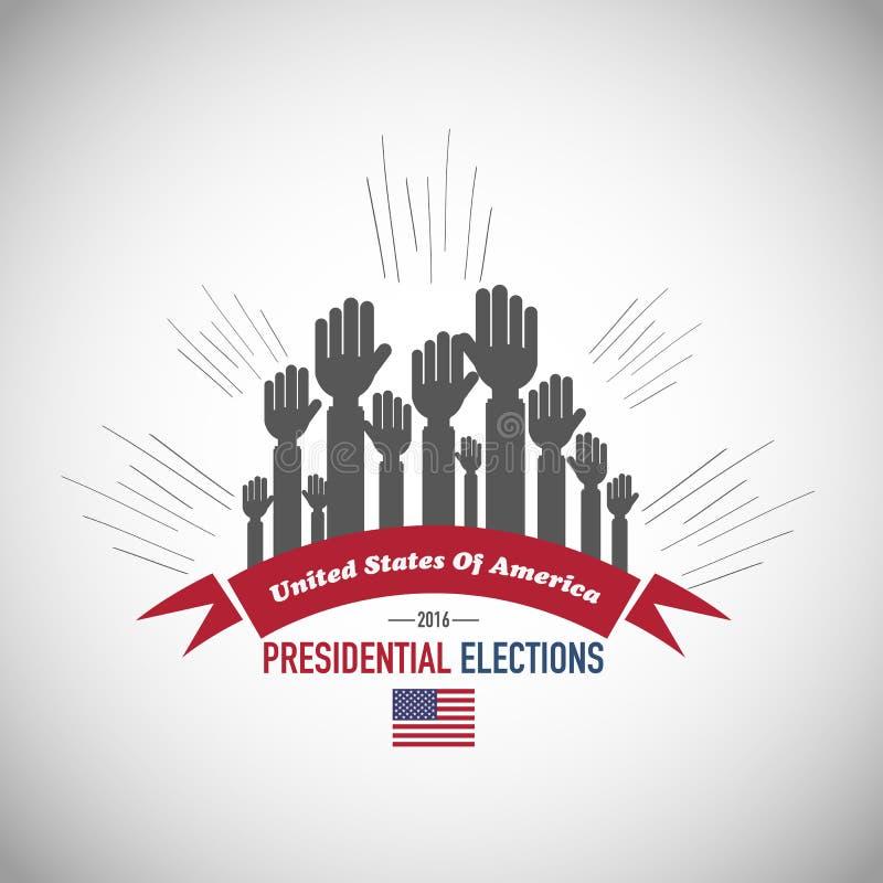 2016 nosotros elecciones presidenciales ilustración del vector