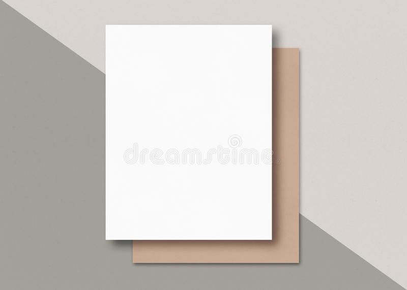 Nosotros foto de la maqueta de papel de letra Papel en blanco libre illustration