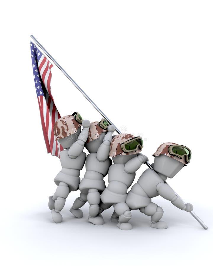 Nosotros monumento de la guerra del Cuerpo del Marines stock de ilustración