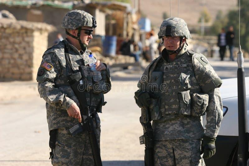 Nosotros soldados en Iraq fotografía de archivo libre de regalías