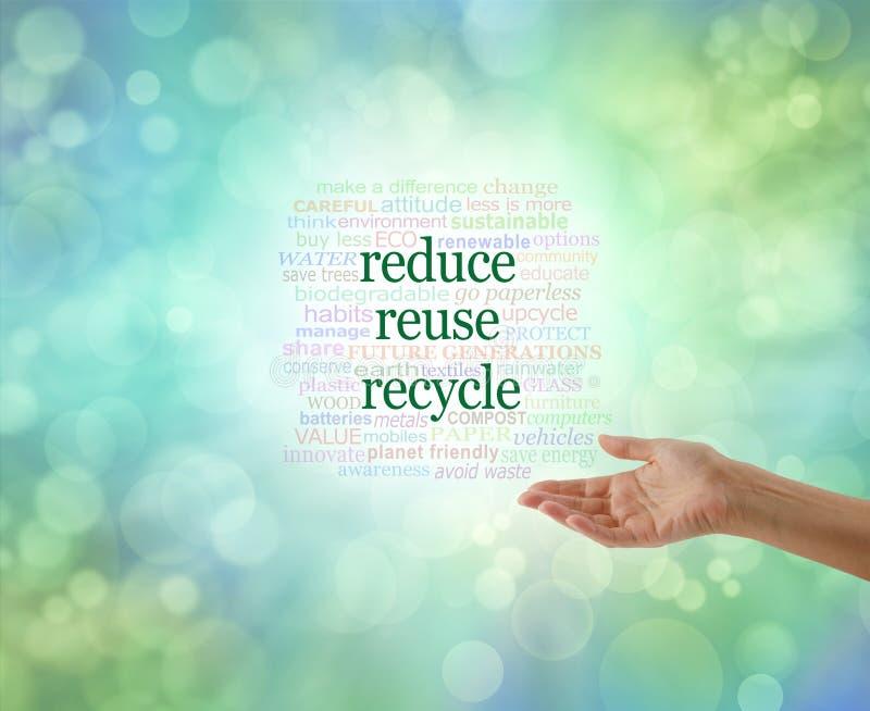 Nosotros toda la necesidad de hacer esto: Reduzca la reutilización reciclan imagen de archivo libre de regalías