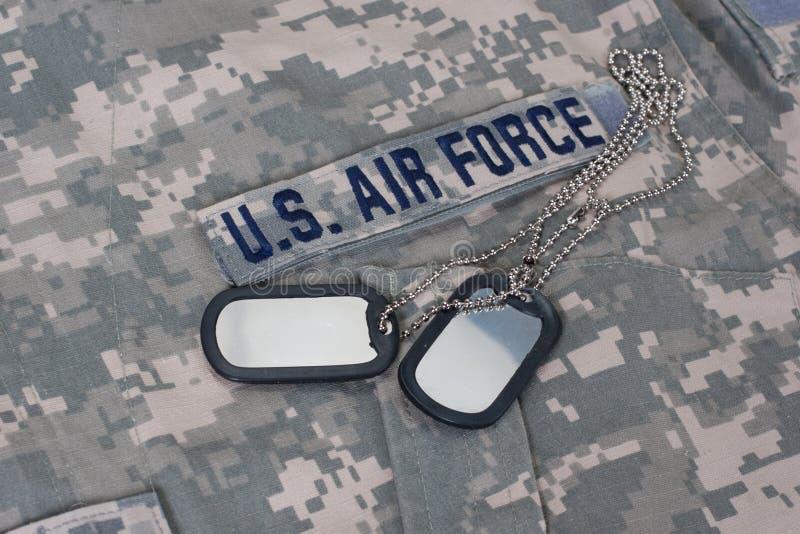 Nosotros uniforme camuflado de la fuerza aérea fotos de archivo