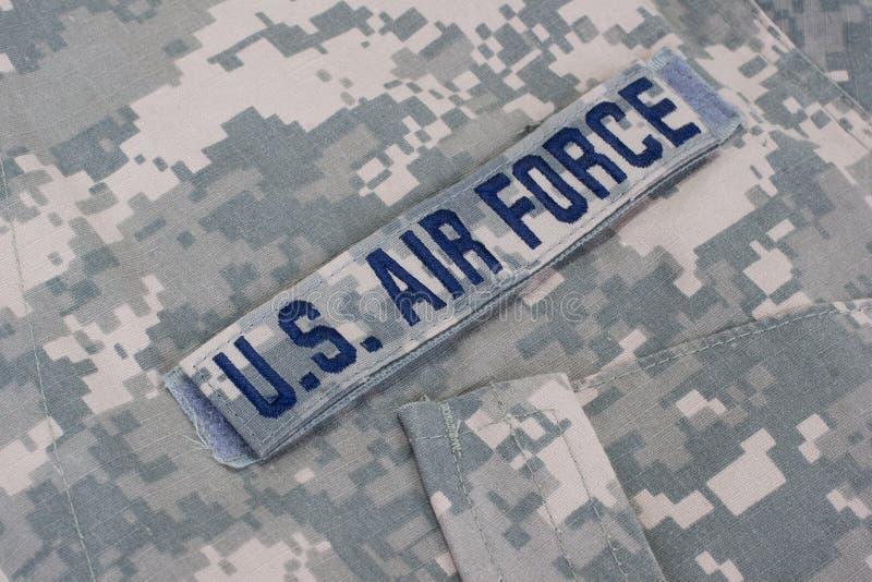 Nosotros uniforme de la fuerza aérea imagen de archivo