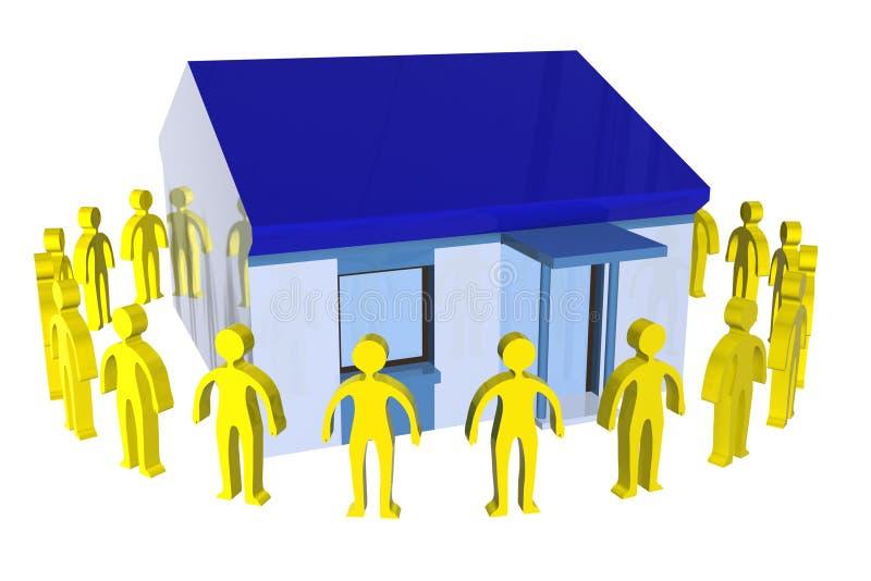 Nossa casa ilustração do vetor