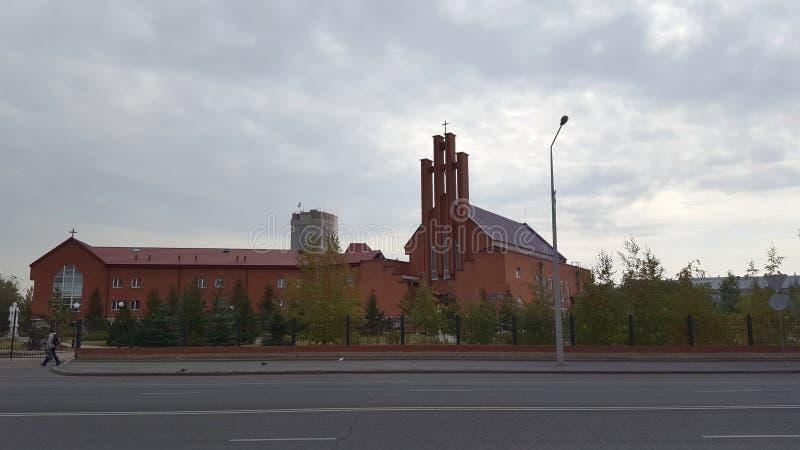Nossa catedral da senhora Of Perpetual Help, Astana, Cazaquistão fotos de stock