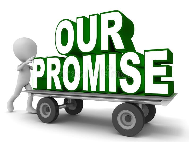 Nossa promessa ilustração stock