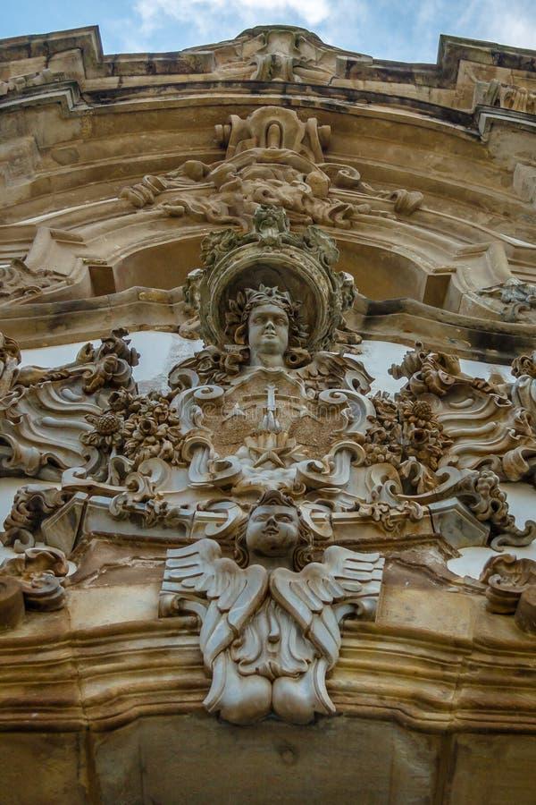 Nossa Senhora делает деталь церков Carmo - Ouro Preto, мины Gerais, Бразилию стоковые изображения rf