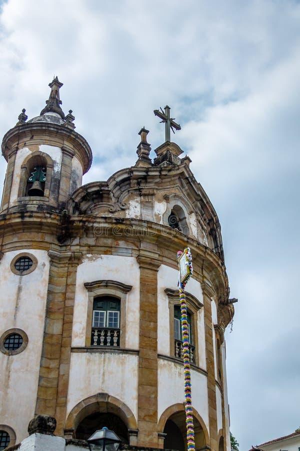Nossa Senhora делает розарий чернокожих - Ouro Preto церков Rosario, мины Gerais, Бразилию стоковое изображение