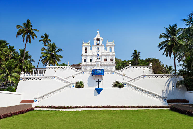 Nossa senhora Church, Goa foto de stock