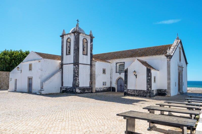 Nossa Senhora da Assuncao ko?ci??, Cacela Velha, Wschodni Algarve, Portugalia zdjęcia stock