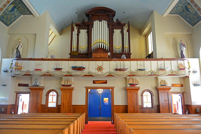 Nossa senhora da boa igreja da viagem, Gloucester, miliampère, EUA fotografia de stock royalty free