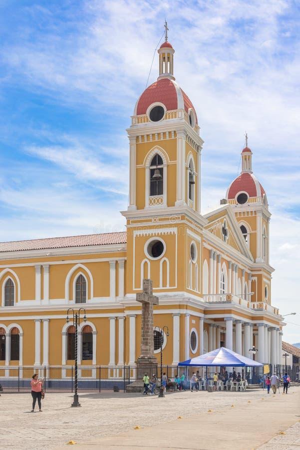 Nossa senhora da catedral da suposição, Granada foto de stock