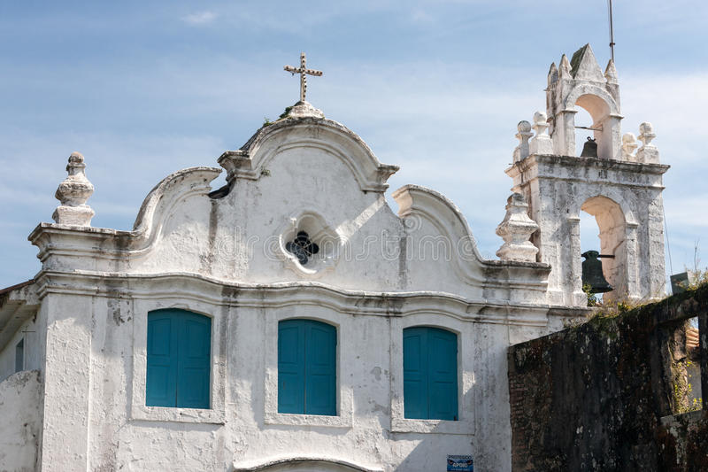 Nossa Senhora da Conceicao Convent Itanhaem fotografia stock