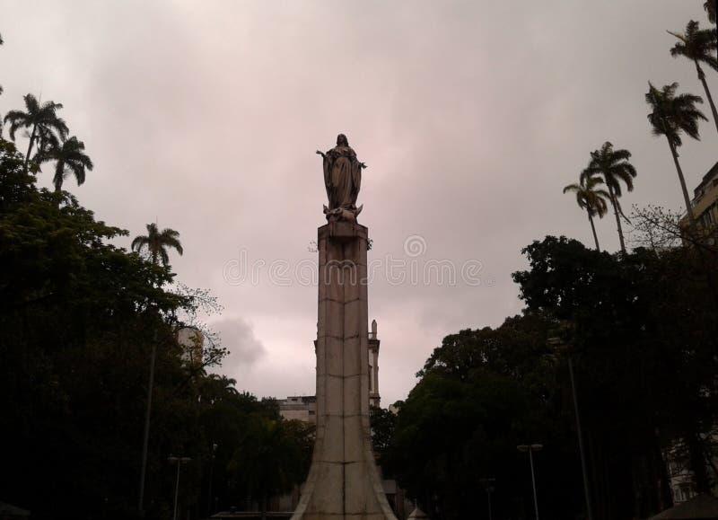 Nossa Senhora da Conceicao Statue Largo do Machado Rio de Janeiro Brazil. Nossa Senhora da Conceicao statue in Largo do Machado Rio de Janeiro Brazil. Religion royalty free stock image