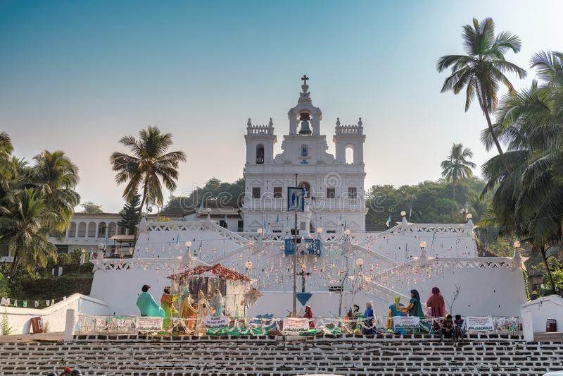 Nossa senhora da igreja da concepção imaculada, Goa, Índia imagem de stock royalty free