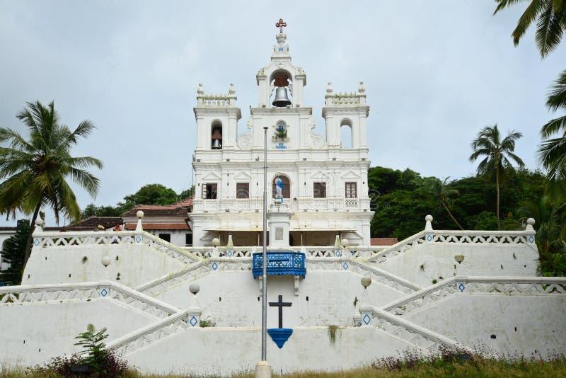 Nossa senhora da igreja da concepção imaculada, Goa imagens de stock