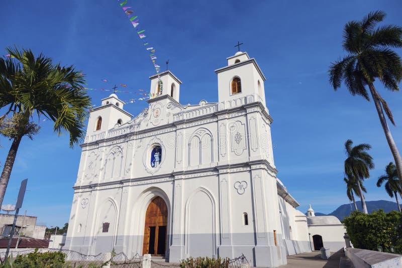Nossa senhora da igreja da suposição em Ahuachapan fotografia de stock