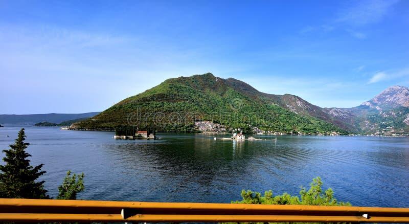 Nossa senhora das rochas de Kotor, Montenegro foto de stock