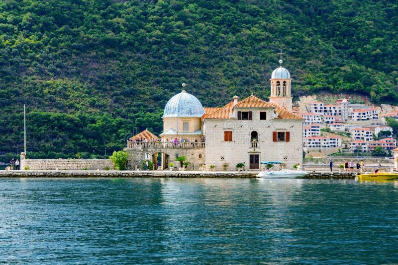Nossa senhora das rochas em Montenegro foto de stock royalty free