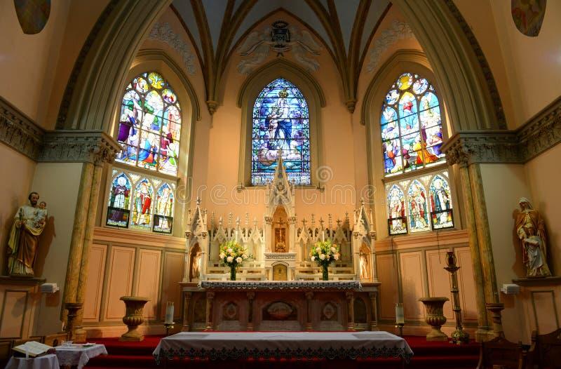 Nossa senhora das vitórias igreja, Boston, EUA imagem de stock